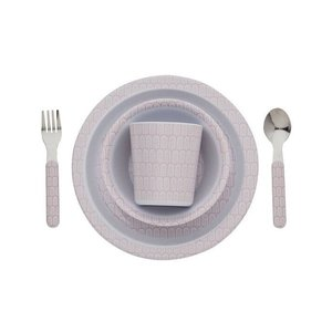 Filibabba melamine children dinnerware set Indian dusty rose