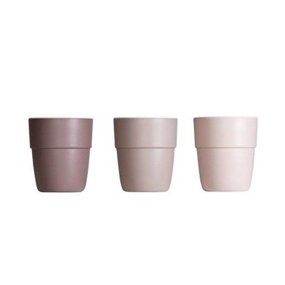 Done by Deer set of three small cups powder