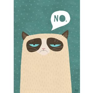 A Grape Design poster Grumpy Cat