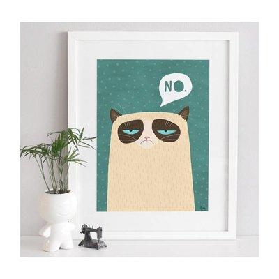 A Grape Design poster Grumpy Cat