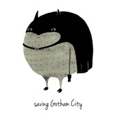 A Grape Design poster batman Gotham city