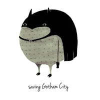 A Grape Design poster batman Gotham city