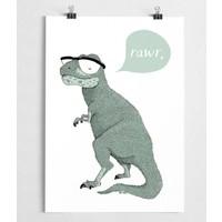 A Grape Design poster dinosaurus