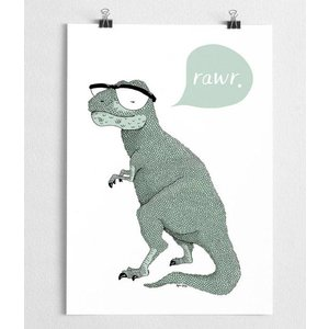 A Grape Design poster dinosaur
