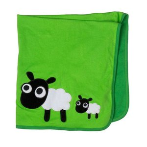 Lipfish blanket green with sheep