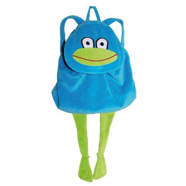 backpack frog blue