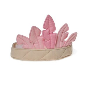 Oskar en Ellen dress up hat feather crown pink