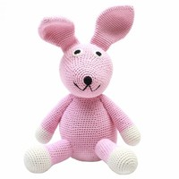 nature zoo of denmark handmade toy rabbit in pink