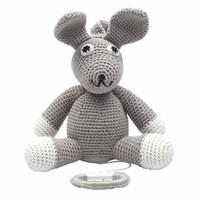 nature zoo of denmark handgemachte Musik Spielzeug Kaninchen in grau