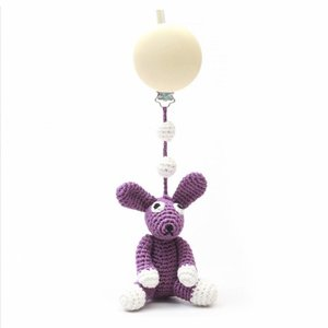 nature zoo of denmark pram mobile with clip purple rabbit
