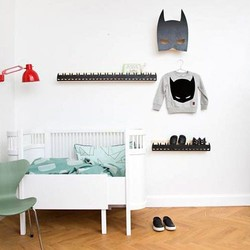 Black and white children's room