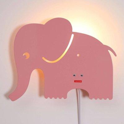 Roommate hellrosa Elefant Lamp