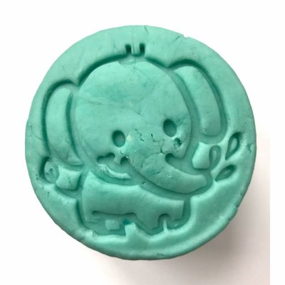 Ailefo wooden play dough stamp elephant