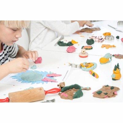 Ailefo Holz Stempel Play-Doh Krokodil