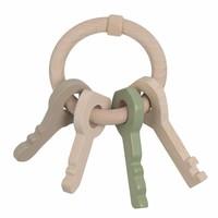 Nofred Holz Schlüsselanhänger Minze