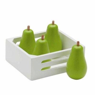 Kids Concept speelgoed houten peren in kistje