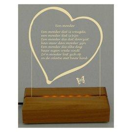 Plexiglas met hart, 17x22cm