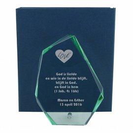 Glazen bokaal, 190x140mm, incl. geschenkdoos