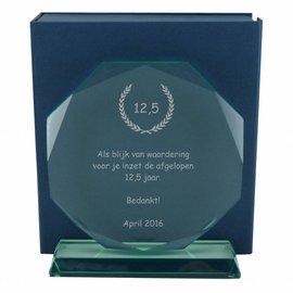 Glas award, 200x182mm, incl. geschenkdoos