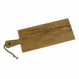 Mooie lange snijplank van beuken met handvat, 59x20cm