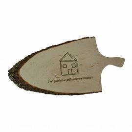 Snijplank / hapjesplank met boomschors, ca. 60x25x2,5cm