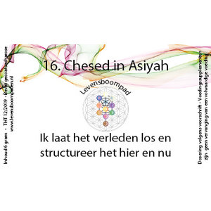 Levensboompaden 16 Chessed in Assiyah