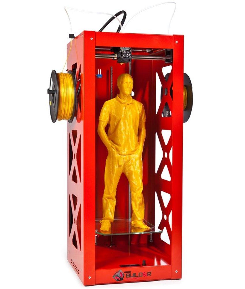 Builder 3D Big Builder Mono Extruder  Rood