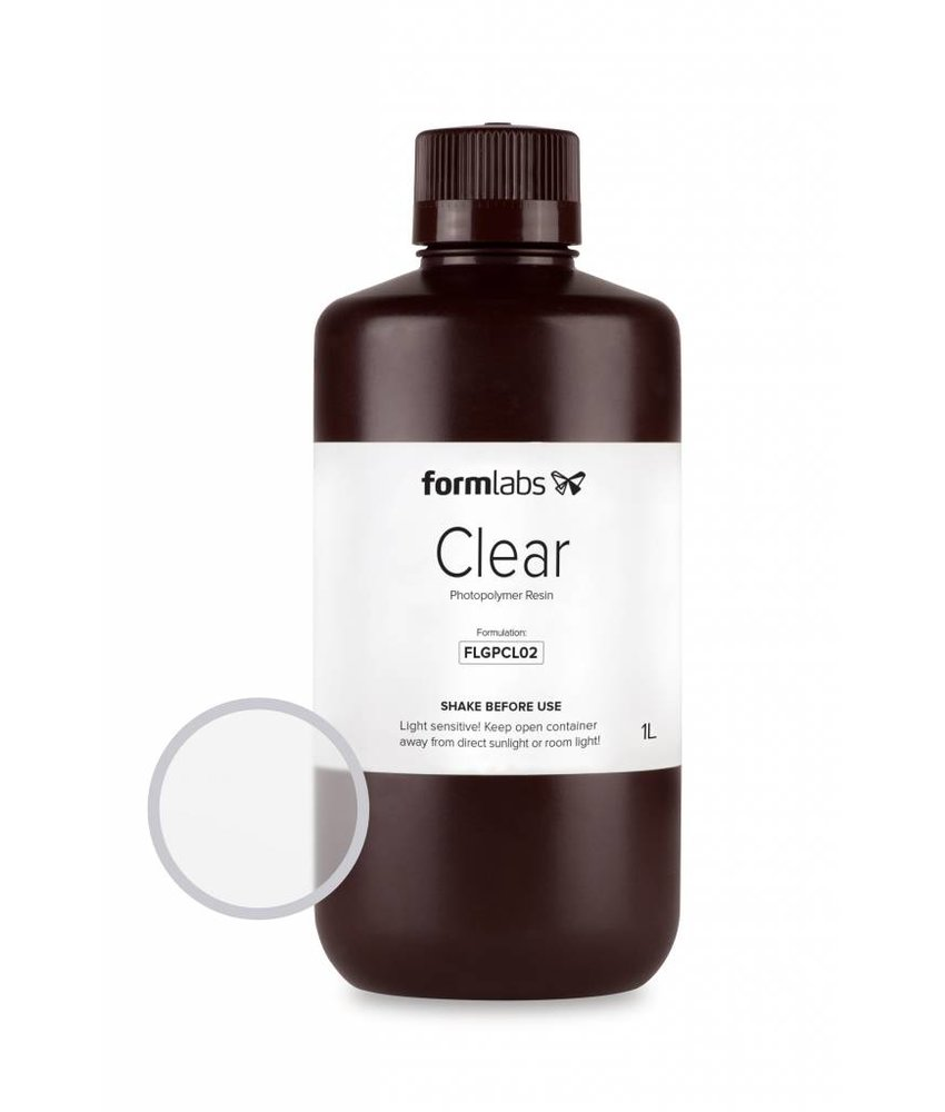 Formlabs Resin Clear 1L Bottle voor de Form 1+