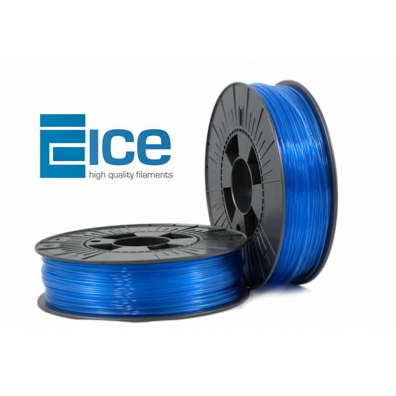 ICE Filaments ABS+ 'Transparent Bold Blue'
