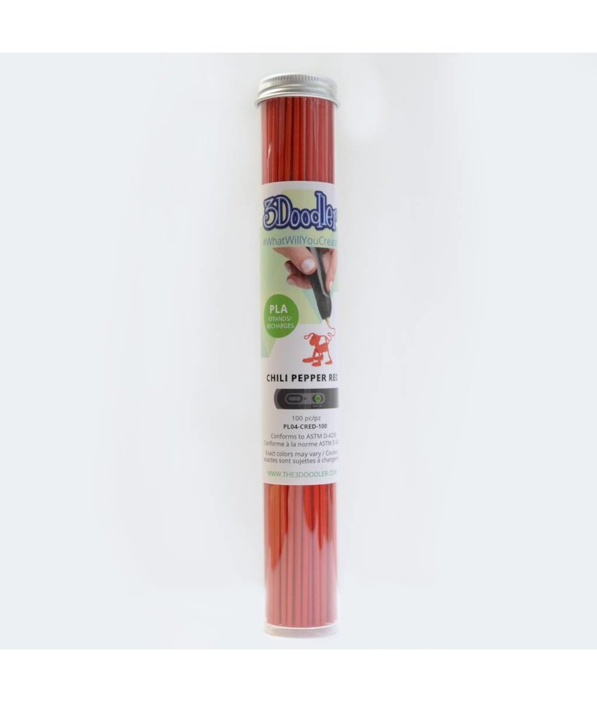 3Doodler Chili Pepper Red PLA Tube
