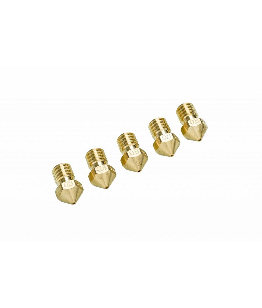 Ultimaker UM2+ Nozzle Pack 5x 0.8mm (#9527)