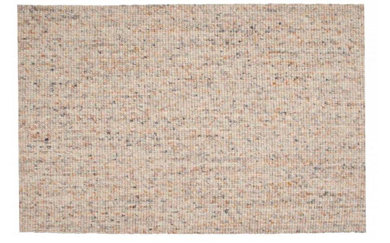 Frans Molenaar vloerkleed van 100% wollen garen in beige-mix kleursamenstelling