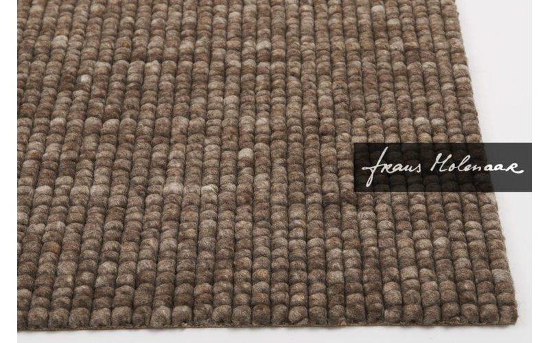 Vloerkleed van 100% (zuiver) wol in bruine kleurstelling