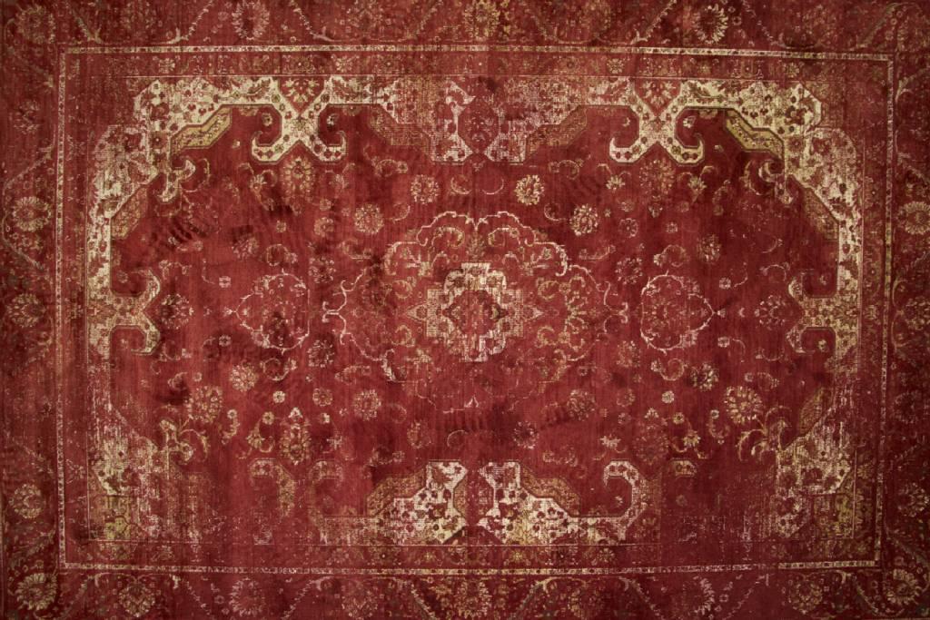 Rood Tapijt Aanbiedingen : Vintage vloerkleed angkor in het rood kopen floorpassion