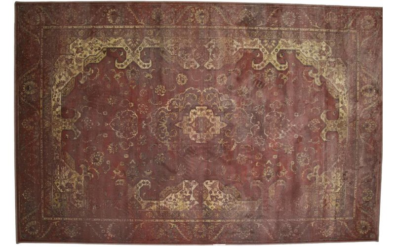 Vintage vloerkleed rood/roze Angkor-43
