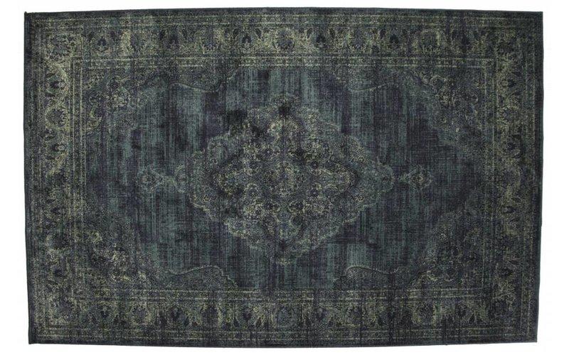 Angkor 35 - Vintage vloerkleed in Donkerblauw