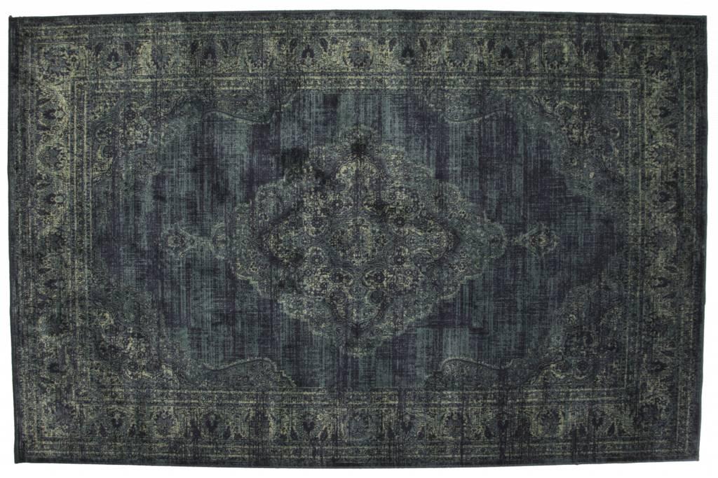 Vloerkleed Angkor 35 Donkerblauw/Grijs