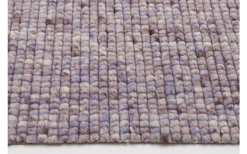 Beach Life 41 - Frans Molenaar vloerkleed van 100% wollen garen in Lila kleurensamenstelling