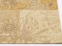 Prachtig patchwork vloerkleed in beige kleuren