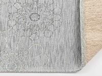 Chatel 21 - Patchwork vloerkleed met prachtig bloemendessin in het lichtblauw