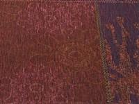 Patchwork vloerkleed met prachtig bloemendessin in het paars