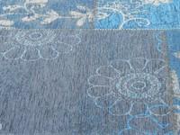 Chatel 34 - Patchwork vloerkleed met prachtig bloemendessin in het Blauw
