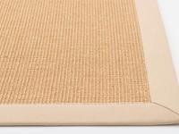 Premium 12 - Prachtig sisal vloerkleed in het beige met crème band