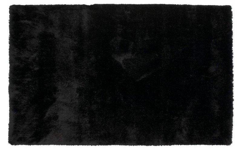 Hoogpolig vloerkleed zwart Ross-25