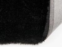 Ross 25 - Uniek hoogpolig vloerkleed in zwarte kleursamenstelling