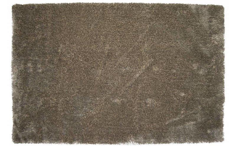 Ross 16 - Uniek hoogpolig vloerkleed in beige/grijze kleurensamenstelling
