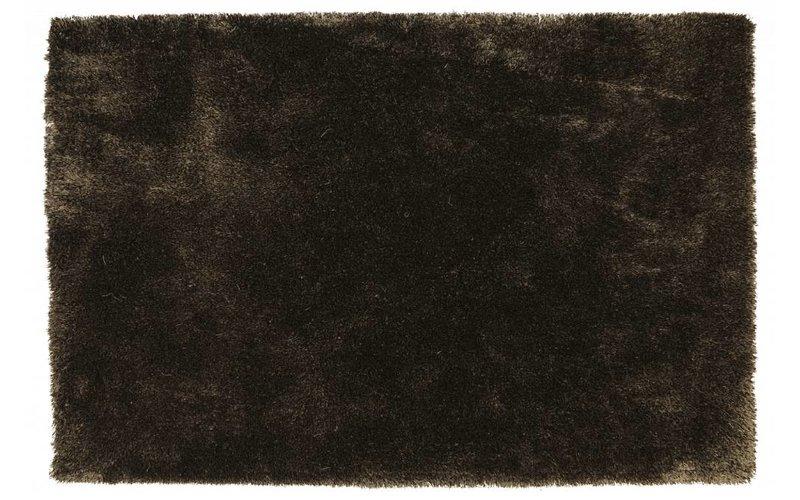 Hoogpolig vloerkleed bruin mix Ross-18