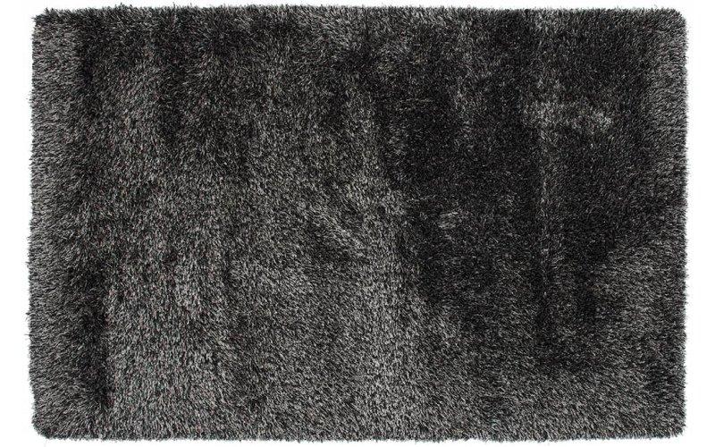 Prachtig hoogpolig vloerkleed met zwarte garen