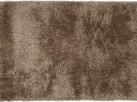 Prachtig hoogpolig vloerkleed in bruine kleursamenstelling