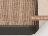 Naturel/Grijs Sisal vloerkleed met donkergrijze band van Rivièra Maison